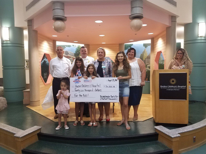 Washington County Fair Check Presentation