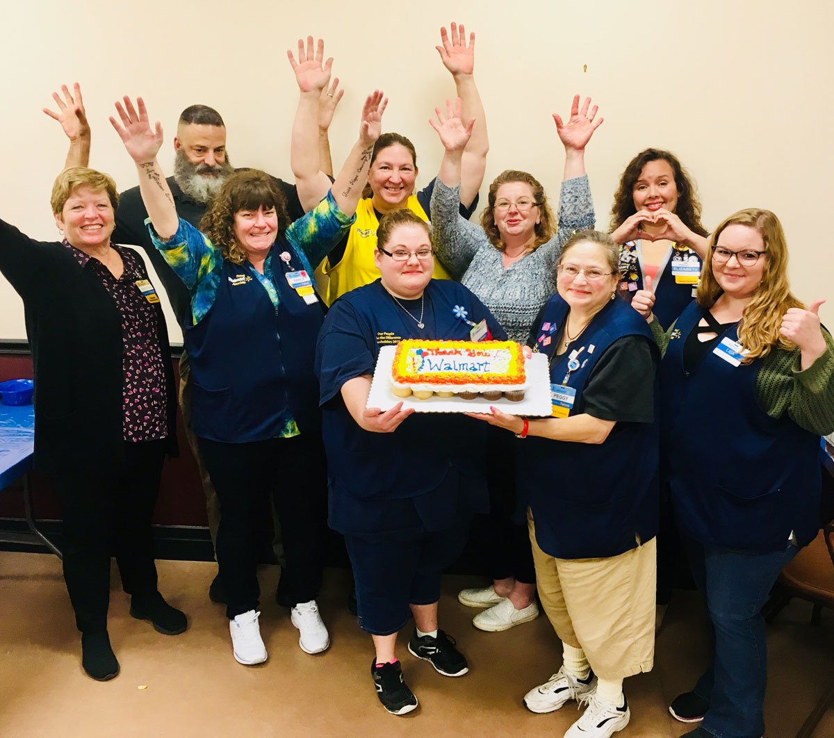 Walmart Employees Celebrate Giving