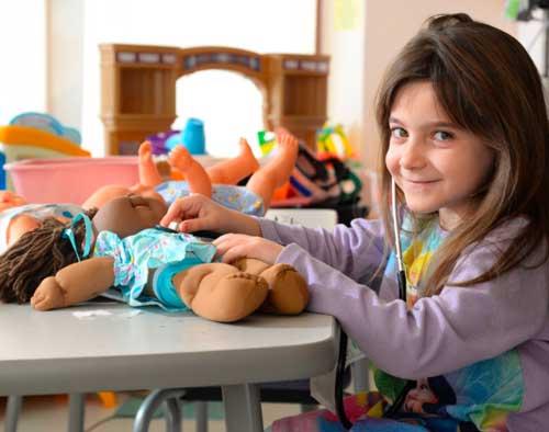 child life at Hasbro childrens