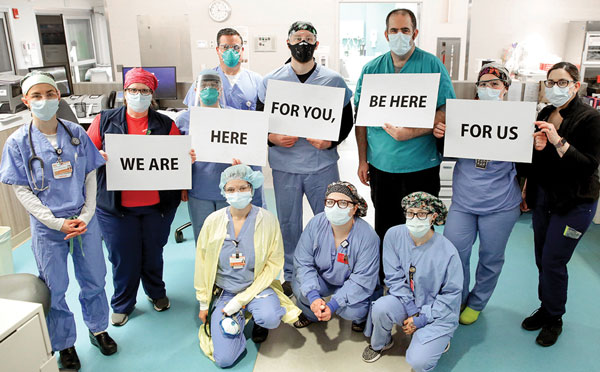 Newport Hospital Covid workers