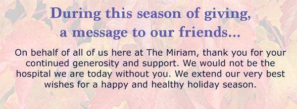 A Message from The Miriam
