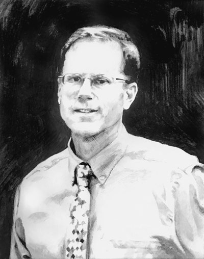 John Peterson drawing by Melissa Weaver
