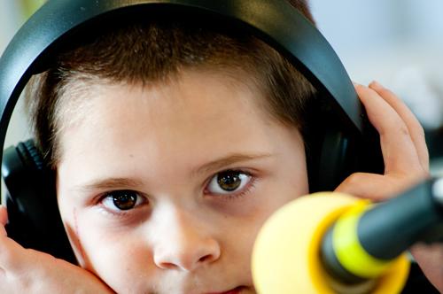 Caleb at Radiothon