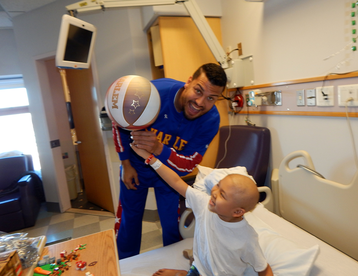 Globetrotters visit to Hasbro
