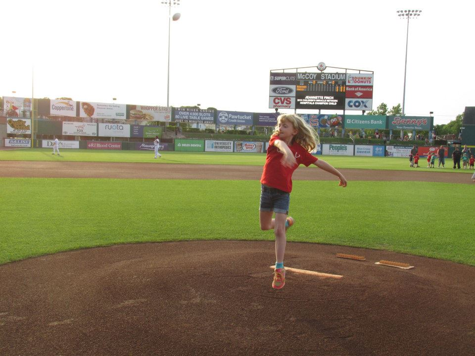Pawsox first pitch