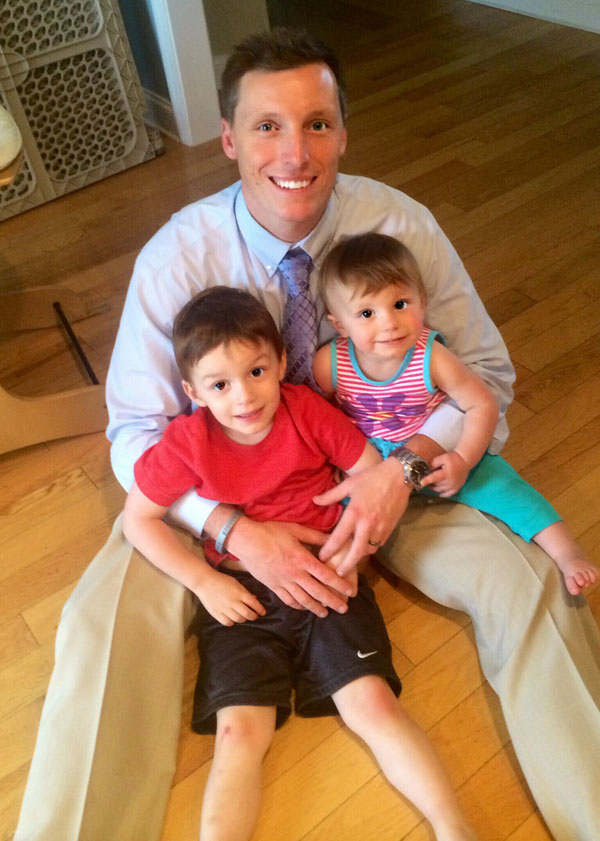 John Urban with Children