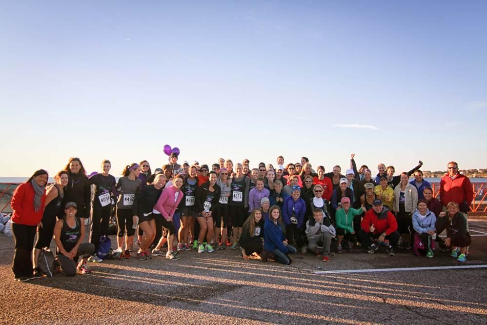 Maggie's Miles team at Newport half marathon