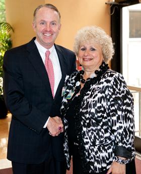 Paula Tartaglione-Hall with Dr. Timothy Babineau