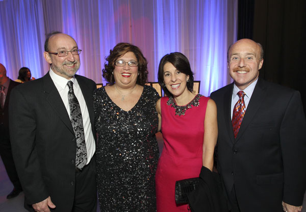 L-R. Alan Gaines, M.D., and Sharon Gaines, event co-chairs, along with Marianne and Alan Litwin, past event co-chairs.